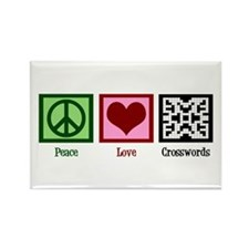 Peace Love Crosswords Rectangle Magnet