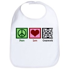 Peace Love Crosswords Bib