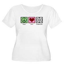 Peace Love Crosswords T-Shirt