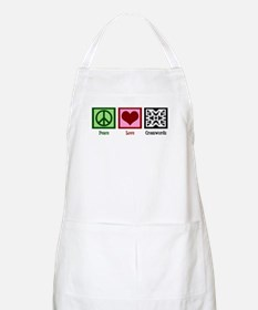 Peace Love Crosswords Apron