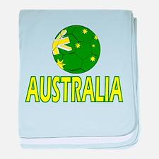 Australia soccer baby blanket