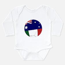 Australia Italy soccerball Long Sleeve Infant Body