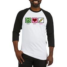 Peace Love Candy Baseball Jersey