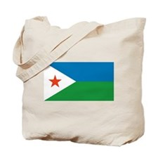 Djibouti Flag Tote Bag