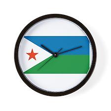 Djibouti Flag Wall Clock