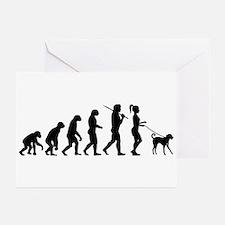Girl Dog Walker Greeting Cards (Pk of 10)