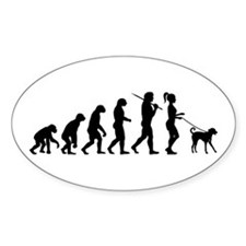 Girl Dog Walker Decal