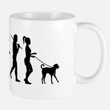 Girl Dog Walker Mug