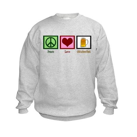 Peace Love Oktoberfest Kids Sweatshirt