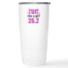 Run like a girl 26.2 Travel Mug