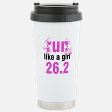 Run like a girl 26.2 Travel Mug
