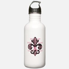 Pink Fleur Ribbon Water Bottle