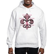 Pink Fleur Ribbon Hoodie