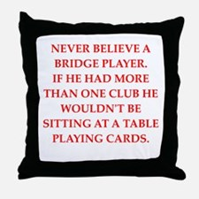 duplicate bridge Throw Pillow