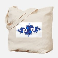 Blue Crest Fractal Tote Bag