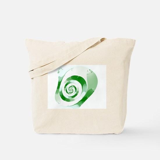 Simple Green Fractal Tote Bag