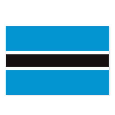 Botswana Flag Postcards (Package of 8)
