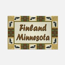 Finland Minnesota Loon Rectangle Magnet (10 pack)