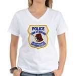 Bedford Mass Police Women's V-Neck T-Shirt