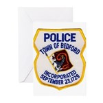 Bedford Mass Police Greeting Cards (Pk of 20)