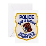 Bedford Mass Police Greeting Card