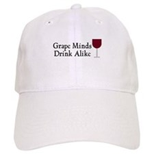 Grape Minds Think Alive Wine Baseball Cap