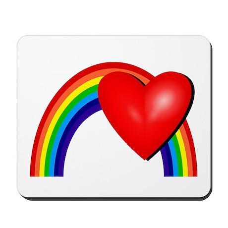 Rainbow Love Mousepad