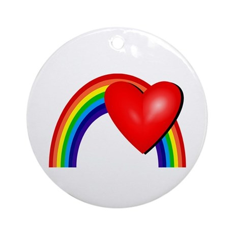 Rainbow Love Ornament (Round)