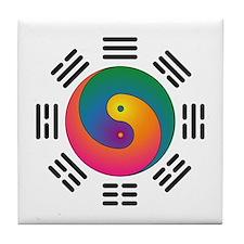 Spectral Yin-Yang Tile Coaster