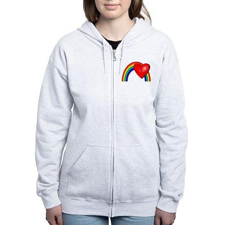 Rainbow Love Women's Zip Hoodie