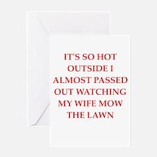 funny joke for men Greeting Card