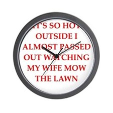 funny joke for men Wall Clock
