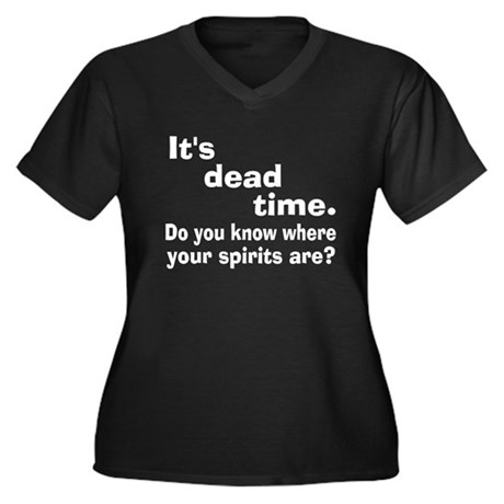 Paranormal Dead Time Women's Plus Size V-Neck Dark