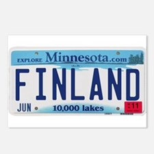 Finland License Plate Postcards (Package of 8)