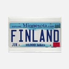 Finland License Plate Rectangle Magnet (10 pack)