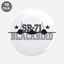 """SR-71 Blackbird 3.5"""" Button (10 pack)"""