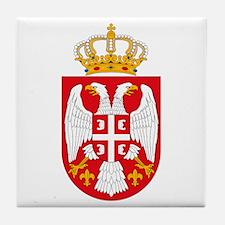 Serbian Coat of Arms Tile Coaster