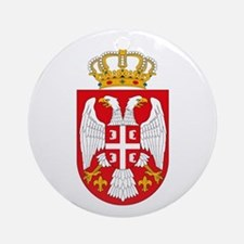 Serbian Coat of Arms Ornament (Round)