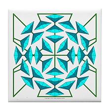 Eclectic Flower 129 Tile Coaster