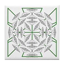 Eclectic Flower 132 Tile Coaster