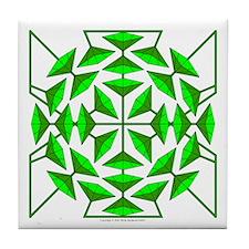 Eclectic Flower 133 Tile Coaster