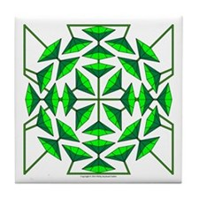 Eclectic Flower 134 Tile Coaster