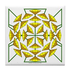 Eclectic Flower 138 Tile Coaster