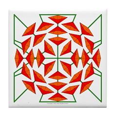 Eclectic Flower 141 Tile Coaster