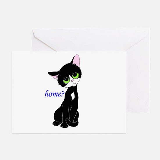 Home? (cat) Greeting Card