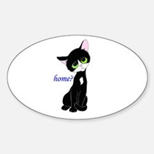 Home? (cat) Sticker (Oval)