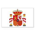 Spain Coat of Arms Rectangle Sticker