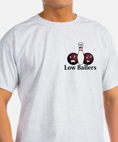 Low Ballers Logo 8 T-Shirt Design Front Pock