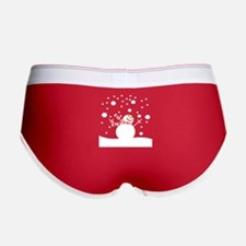 Holiday Snowman Women's Boy Brief