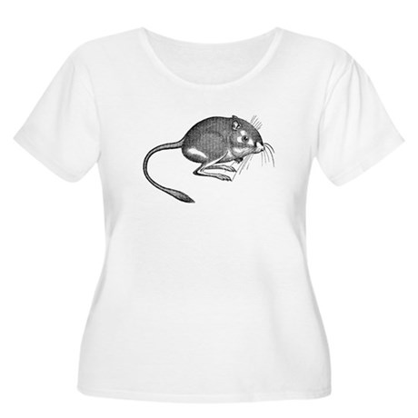Kangaroo Rat Women's Plus Size Scoop Neck T-Shirt